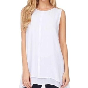 NEW Fever Womens' Double Layer Sleeveless Blouse